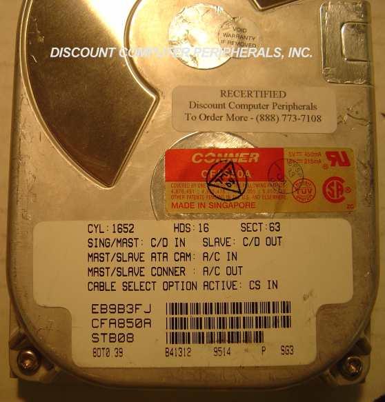 Conner CFA850A