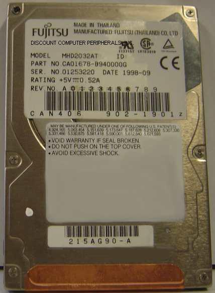 Fujitsu MHD2032AT