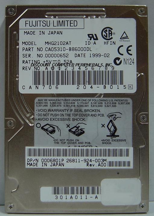Fujitsu MHG2102AT