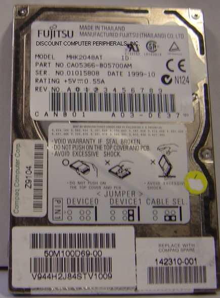 Fujitsu MHK2048AT