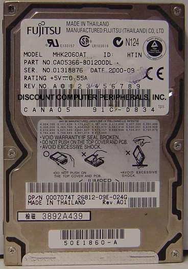 Fujitsu MHK2060AT