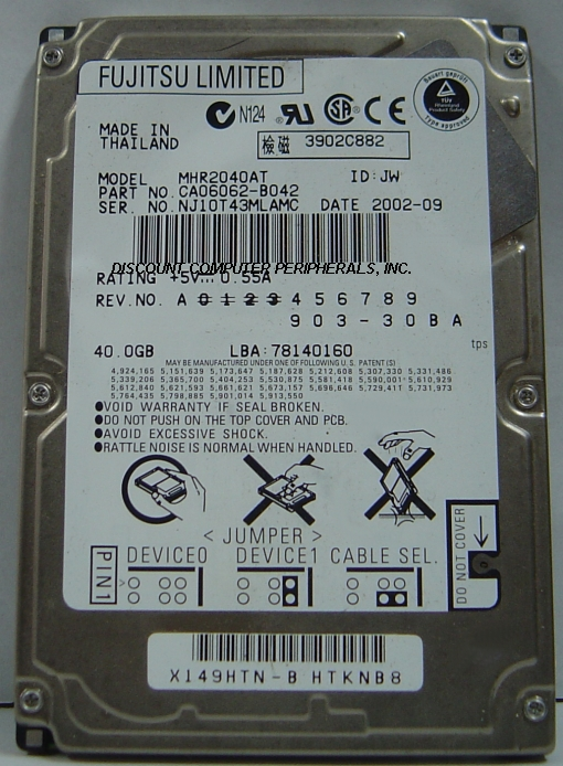 Fujitsu MHR2040AT