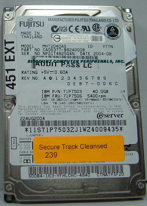 Fujitsu MHT2040AS