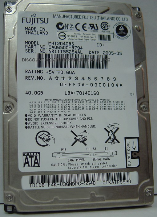 Fujitsu MHT2040BS