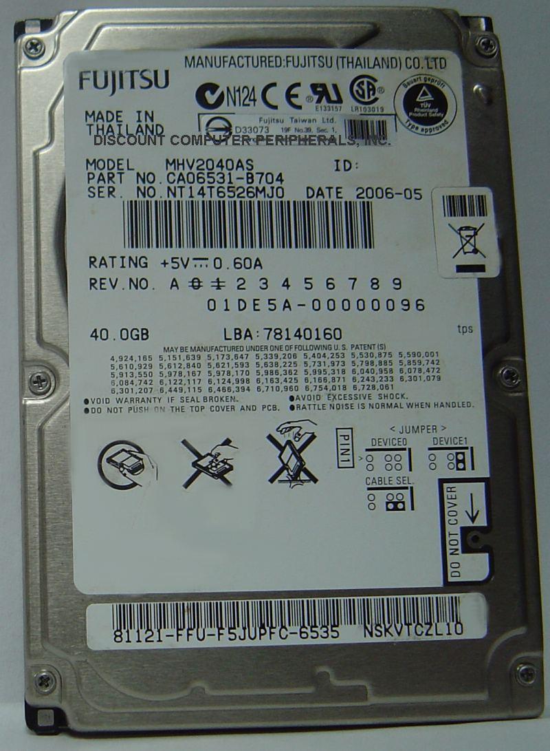 Fujitsu MHV2040AS
