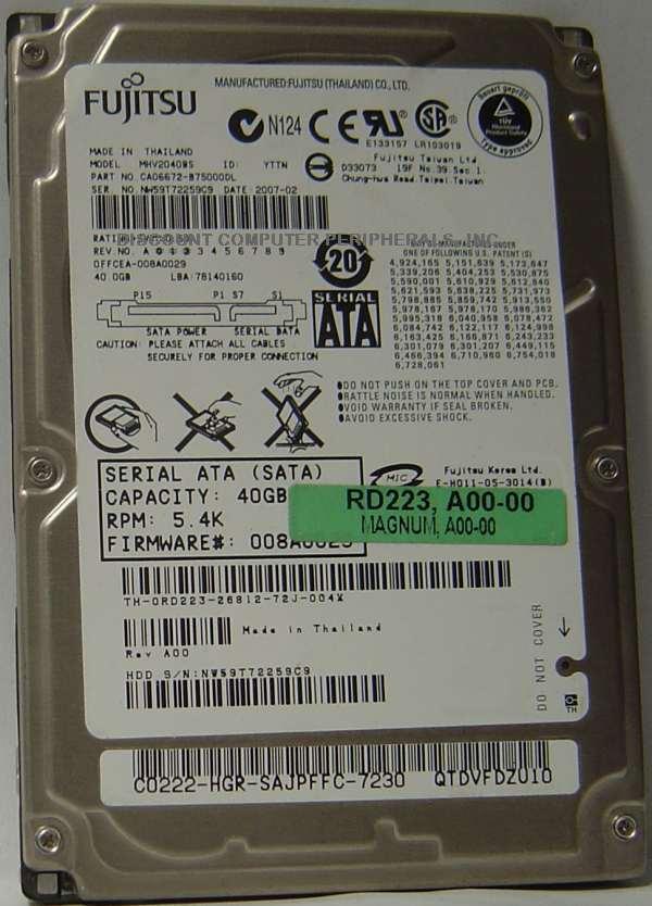 Fujitsu MHV2040BS