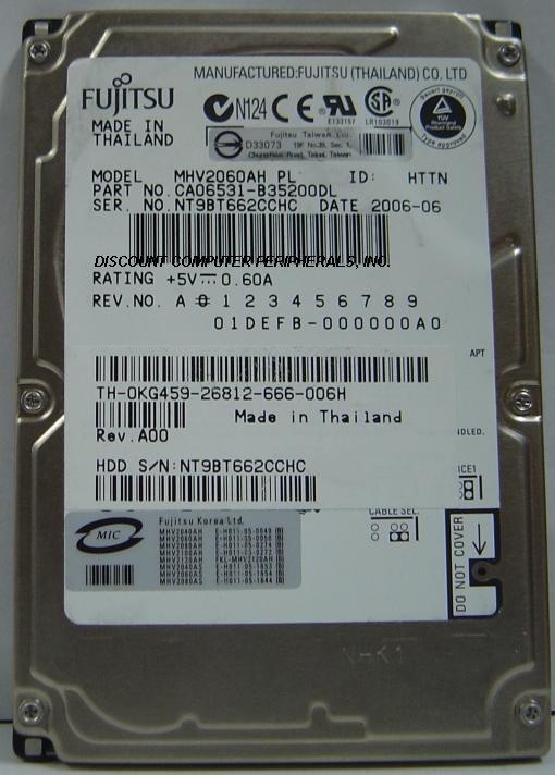 Fujitsu MHV2060AH