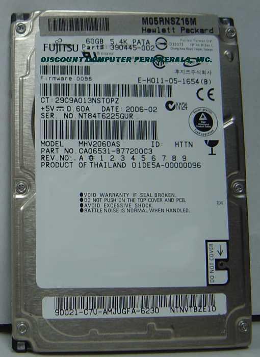 Fujitsu MHV2060AS