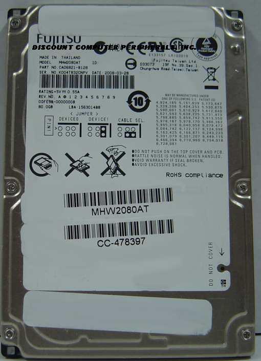Fujitsu MHW2080AT