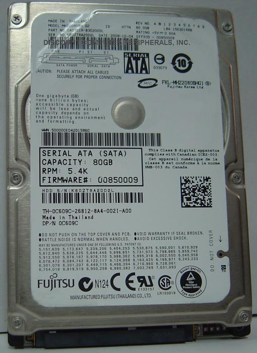 Fujitsu MHZ2080BH