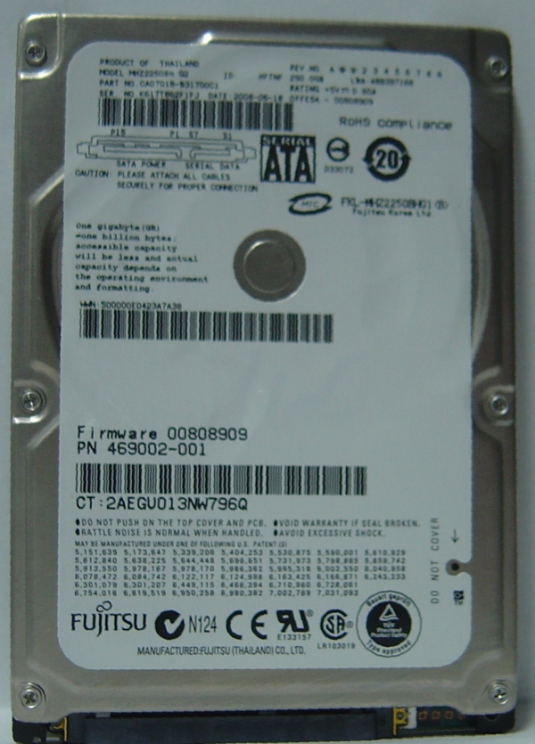 Fujitsu MHZ2250BH