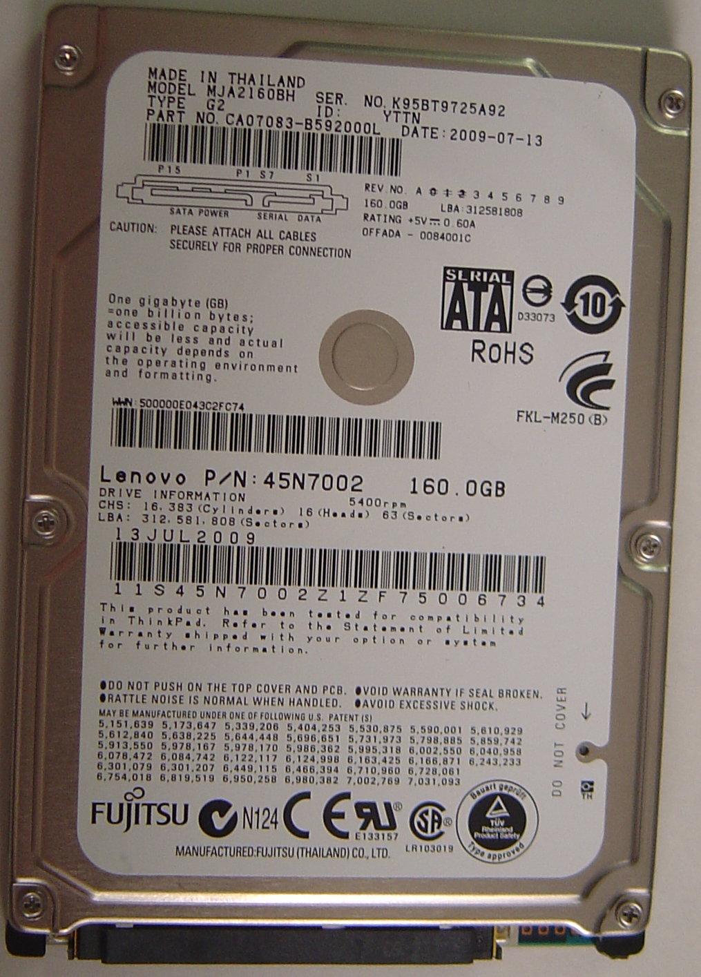Fujitsu MJA2160BH_NEW