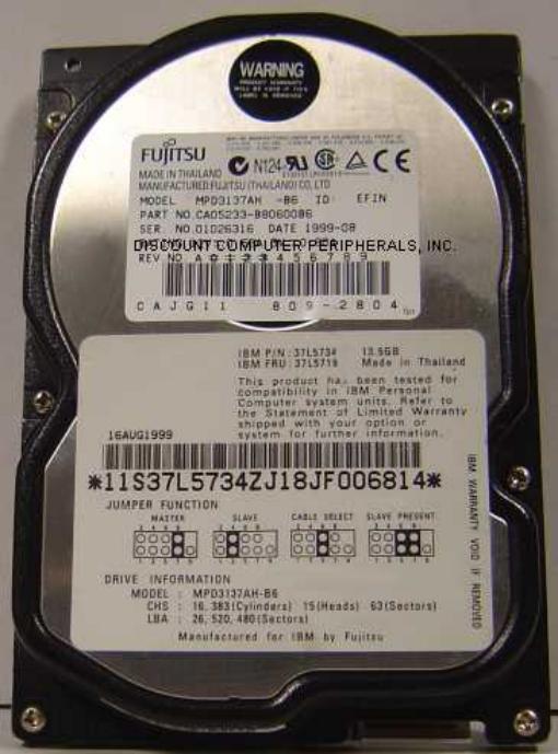 Fujitsu MPD3137AH