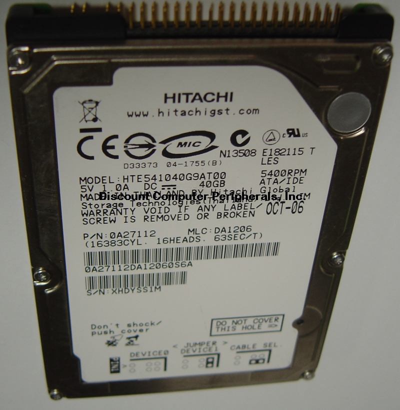 Hitachi HTE541040G9AT00