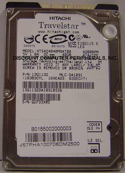 Hitachi HTS424040M9AT00