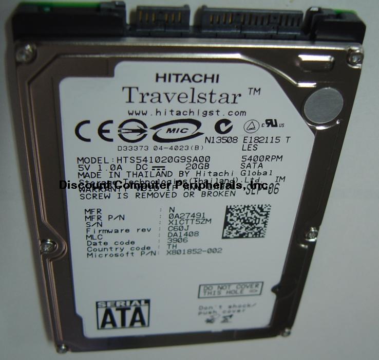 Hitachi HTS541020G9SA00