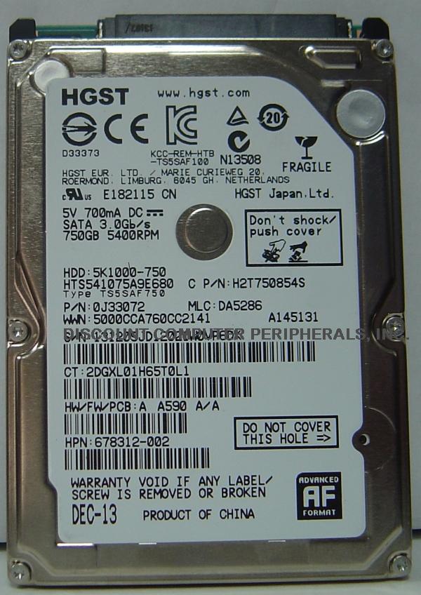 Hitachi HTS541075A9E680