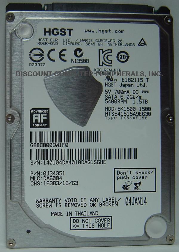 Hitachi HTS541515A9E630