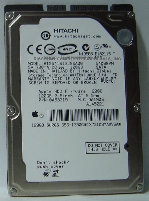 Hitachi HTS541612J9SA00
