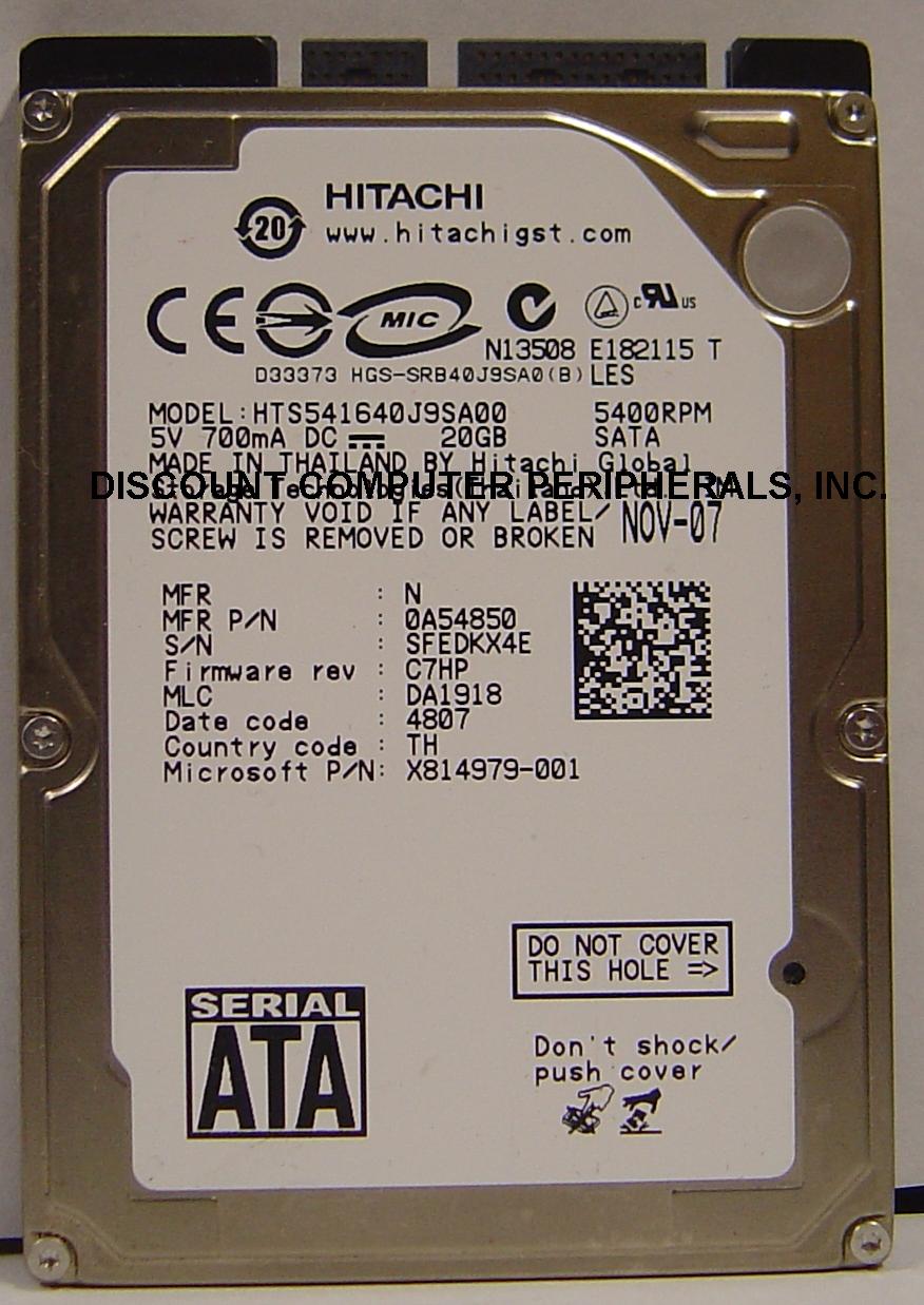 Hitachi HTS541640J9SA00_20GB