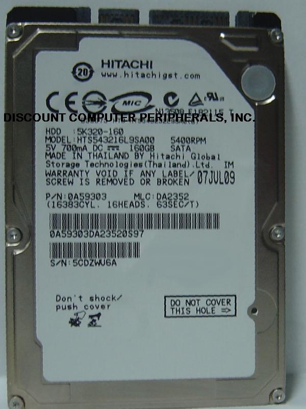 Hitachi HTS543216L9SA00