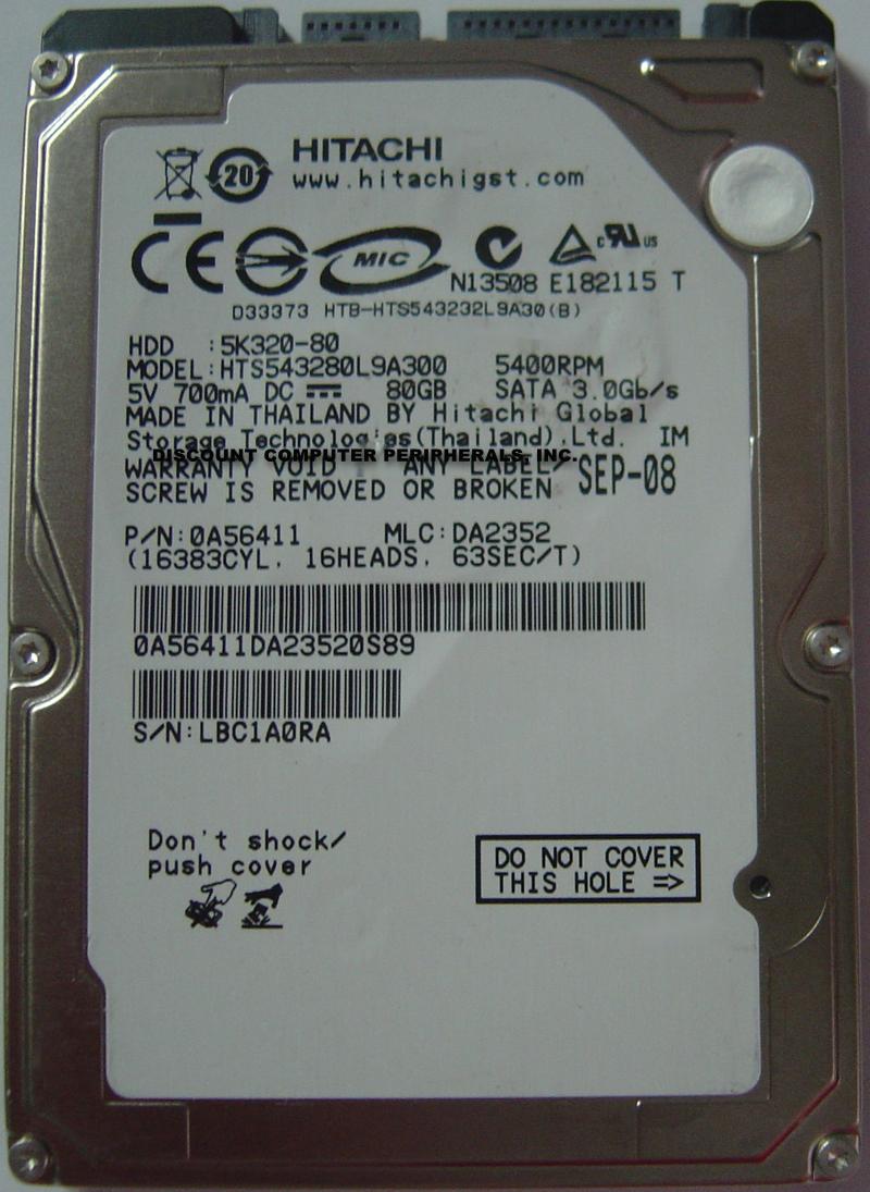 Hitachi HTS543280L9A300