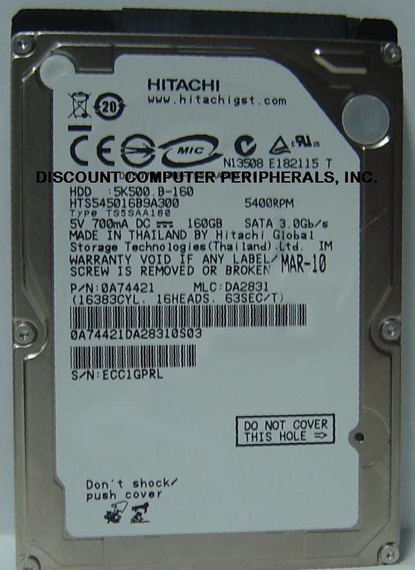 Hitachi HTS545016B9A300