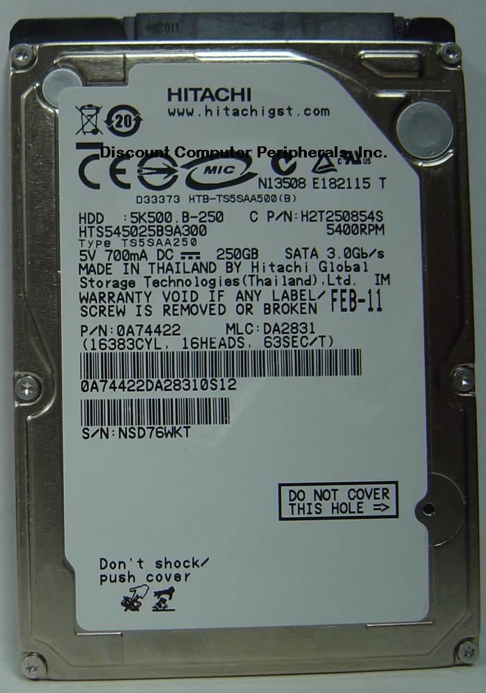 Hitachi HTS545025B9A300