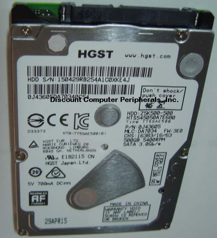 Hitachi HTS545050A7E680