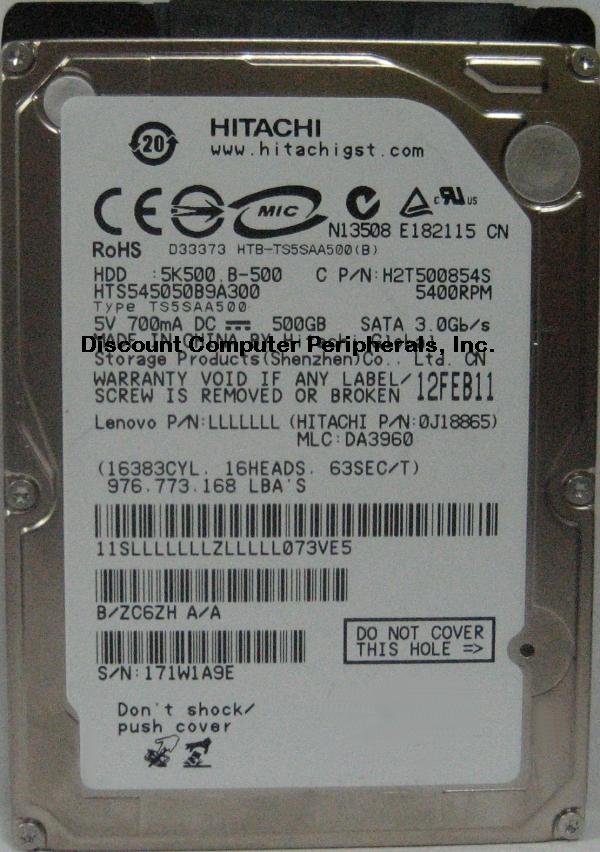 Hitachi HTS545050B9A300