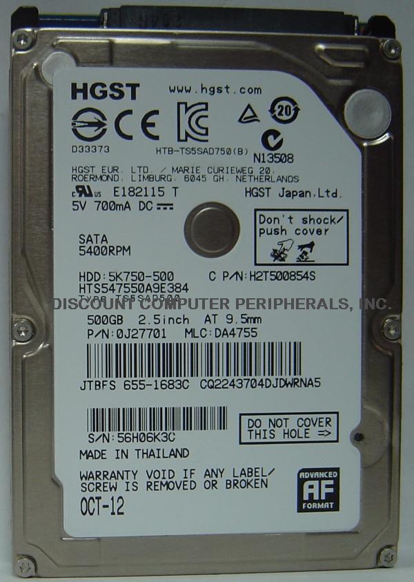 Hitachi HTS547550A9E384