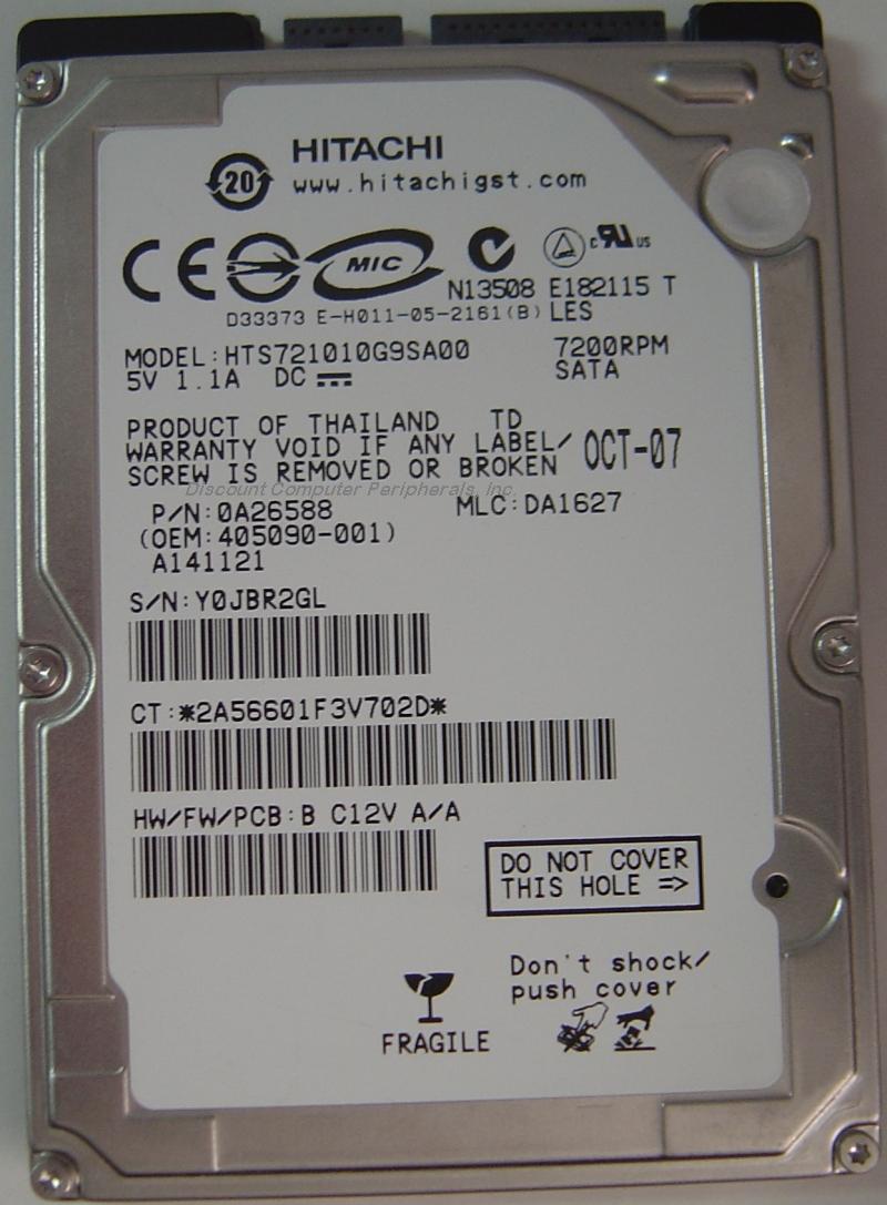 Hitachi HTS721010G9SA00