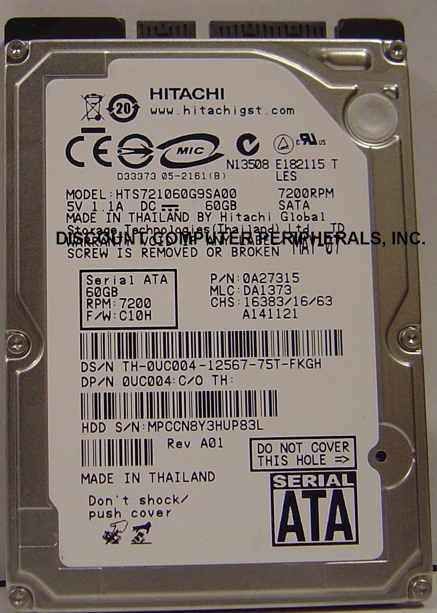 Hitachi HTS721060G9SA00