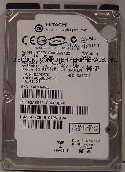 Hitachi HTS721080G9SA00
