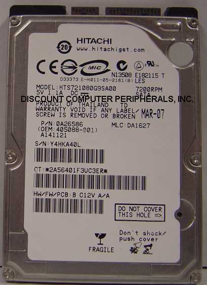 Hitachi HTS721080G9SA00_NEW