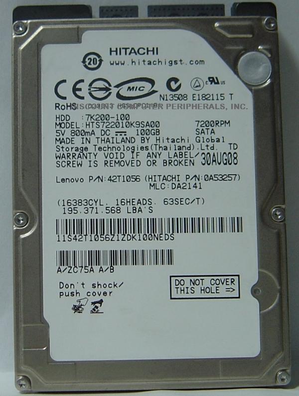 Hitachi HTS722010K9SA00_NEW