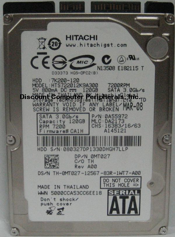 Hitachi HTS722012K9A300