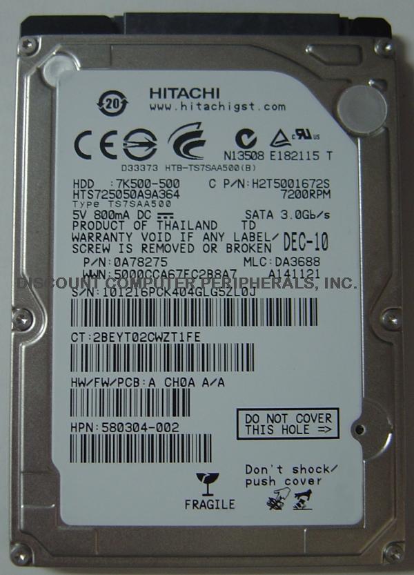Hitachi HTS725050A9A364