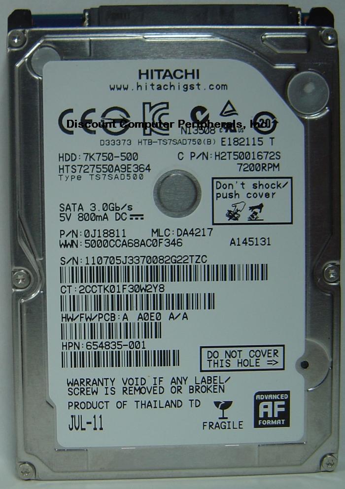 Hitachi HTS727550A9E364