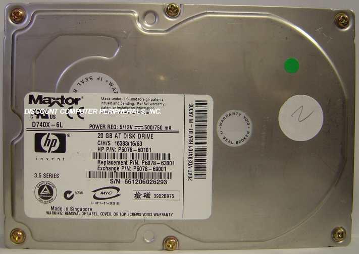 HP P6078-60101