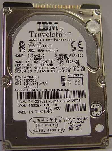 Ibm DJSA-210_6GB