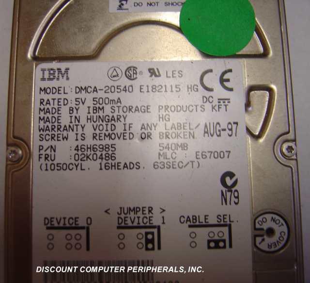 Ibm DMCA-20540