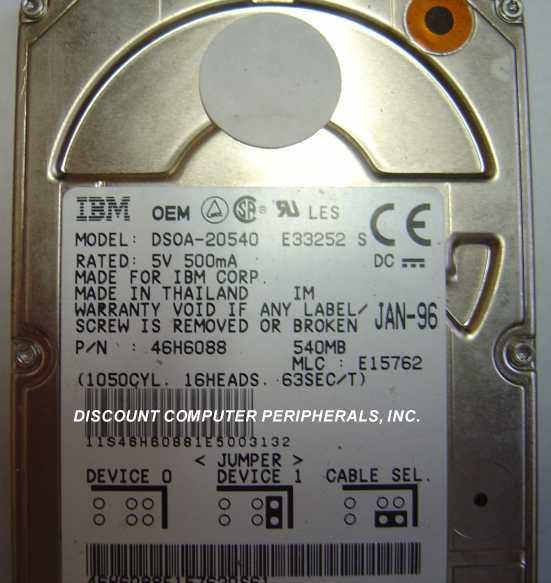Ibm DSOA-20540