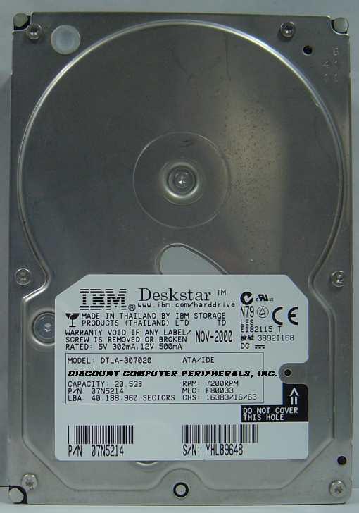 Ibm DTLA-307020