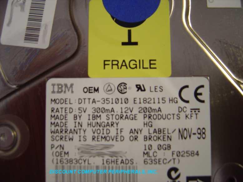 Ibm DTTA-351010