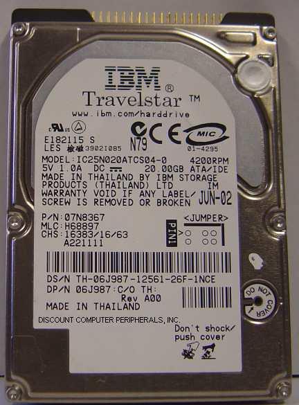 Ibm IC25N020ATCS04-0