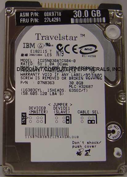 Ibm IC25N030ATCS04-0
