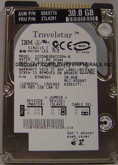 Ibm IC25N030ATCS04-0_NEW