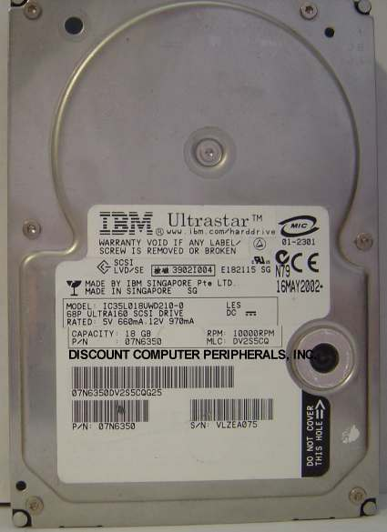 Ibm IC35L018UWD210