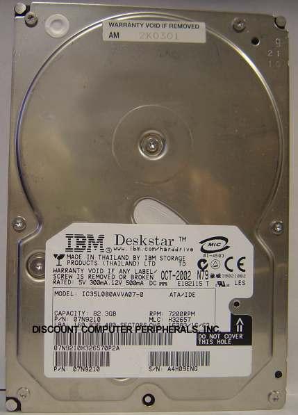 Ibm IC35L080AVVA07-0
